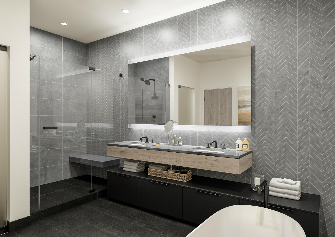 large-dual-sink-modern-bathroom-glass-shower-tile-wall-river-and-lime-design