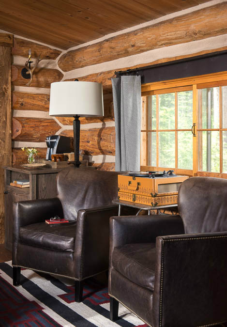 leather-chairs-log-cabin-interior-design-mt-river-and-lime