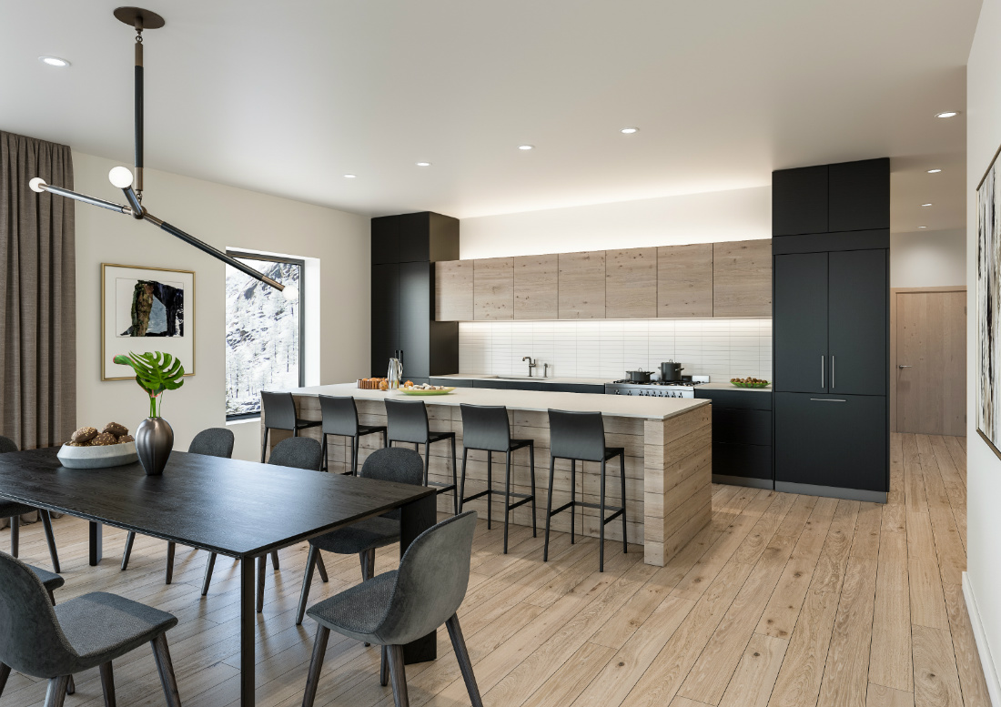 open-floor-plan-kitchen-dining-room-olympic-valley-ca-interior-design
